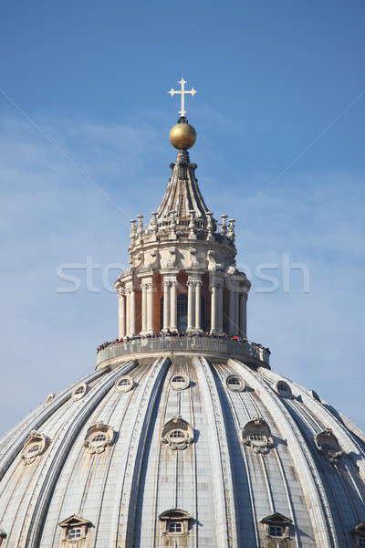 Szent katedrális kupola Vatikán város kereszt Stock fotó © alessandro0770