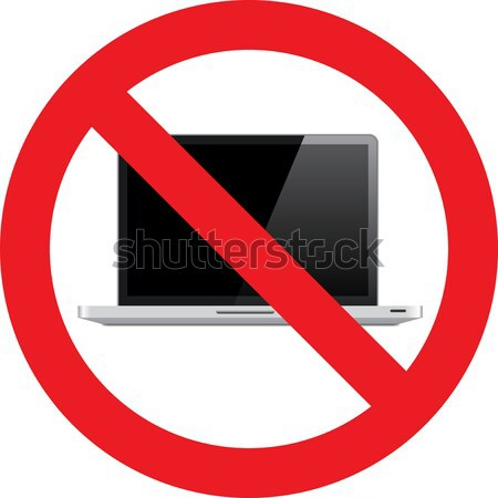No Laptop sign Stock photo © alessandro0770