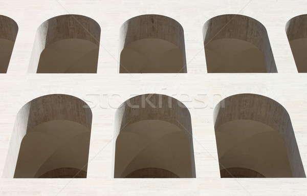 対称の 建物 背景 アーキテクチャ 白 現代 ストックフォト © alessandro0770