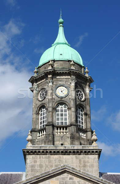 Clock tower of the Dublin castle Stock photo © alessandro0770