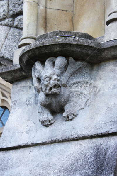 Medieval basrelief with gargoyle in Dublin Stock photo © alessandro0770