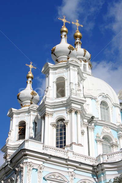 Domes of Smolny Cathedral Stock photo © alessandro0770