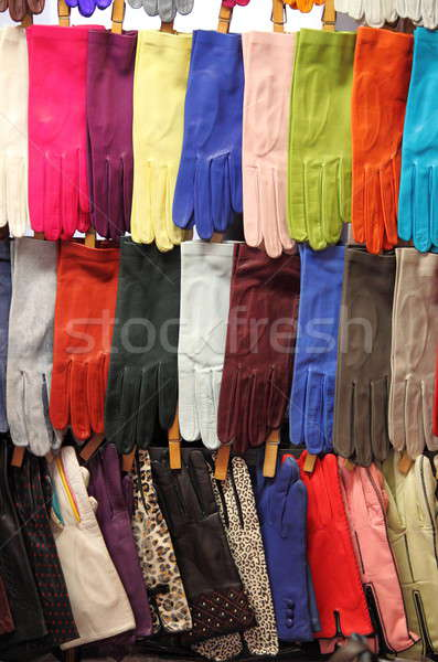Colorful leather gloves Stock photo © alessandro0770