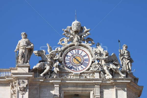 Relógio basílica fachada Roma Itália Foto stock © alessandro0770