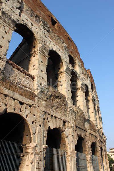 Colosseum Roma ayrıntılı görmek İtalya Bina Stok fotoğraf © alessandro0770