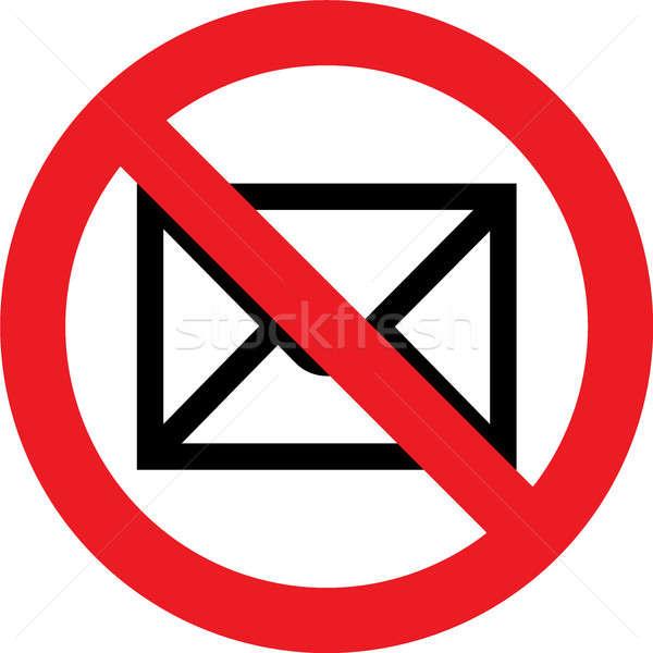 Сток-фото: нет · почты · знак · разрешено · технологий · контроля