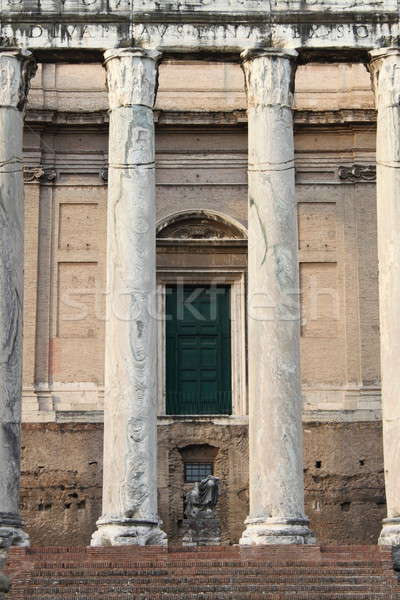 寺 列 ローマ フォーラム ローマ イタリア ストックフォト © alessandro0770