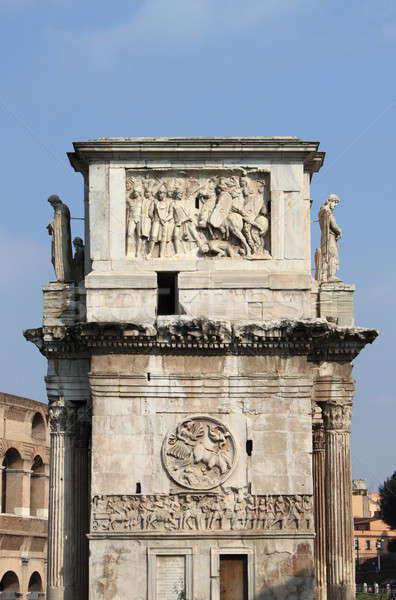 Kemer yan Roma İtalya gökyüzü mavi Stok fotoğraf © alessandro0770