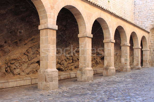 Colonnade in Ibiza Town Stock photo © alessandro0770
