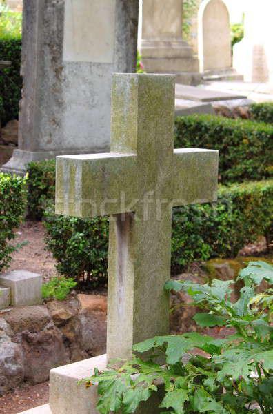 Old cross gravestone Stock photo © alessandro0770