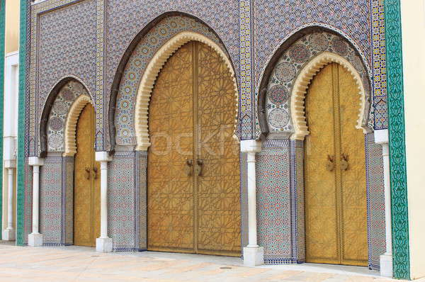 Royal Palace in Fes Stock photo © alessandro0770