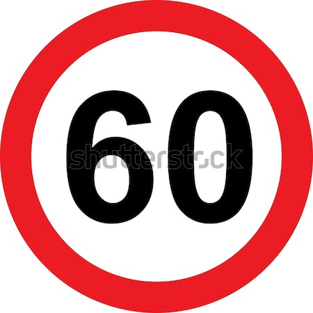 60 speed limitation road sign Stock photo © alessandro0770