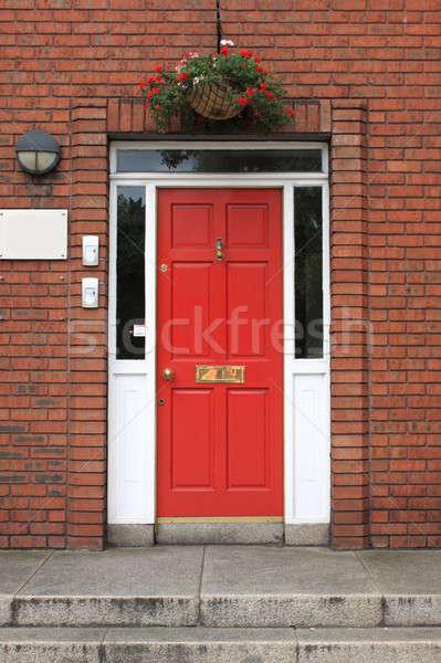 ドア ダブリン アイルランド 家 壁 赤 ストックフォト © alessandro0770