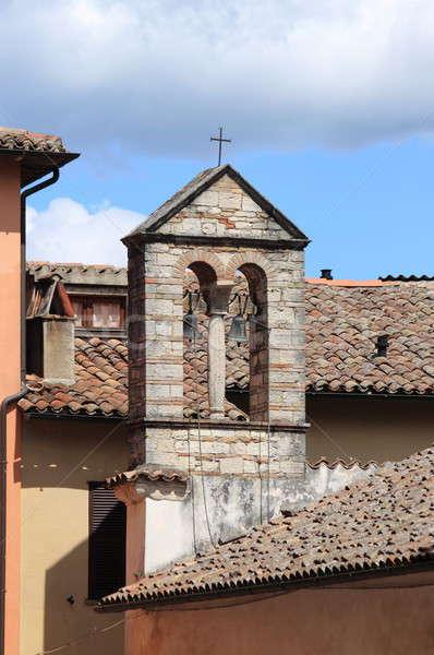 ősi harang torony Toszkána Olaszország város Stock fotó © alessandro0770