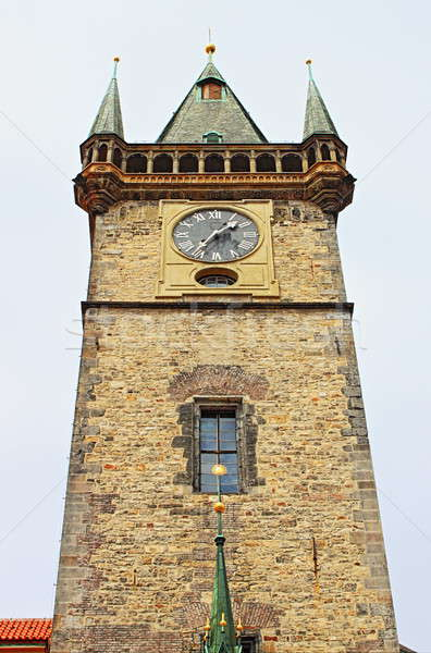 Stock photo: Old Town Hall Tower in Prague