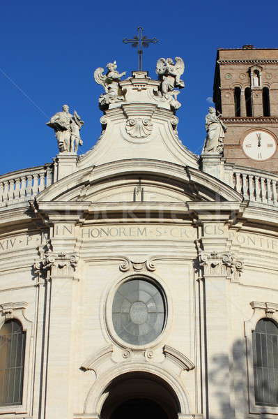 святой крест Иерусалим базилика Рим фасад Сток-фото © alessandro0770