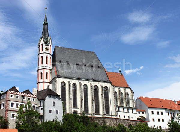 Saint Vitus church in Cesky Krumlov Stock photo © alessandro0770