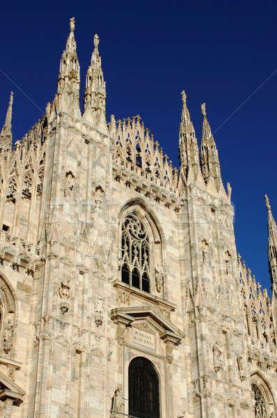Facade of Milan cathedral Stock photo © alessandro0770