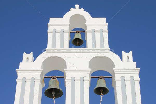 Orthodox bel toren santorini eiland Griekenland Stockfoto © alessandro0770