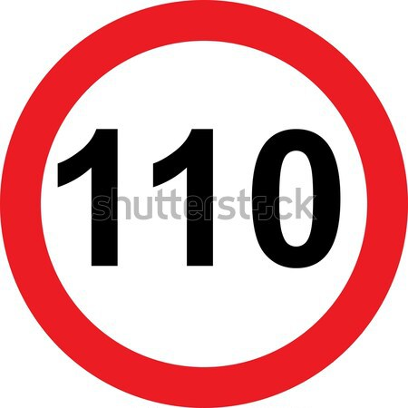 110 speed limitation road sign Stock photo © alessandro0770