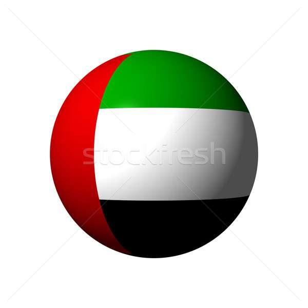 Gömb zászló Egyesült Arab Emírségek hivatalos labda fekete Stock fotó © alessandro0770