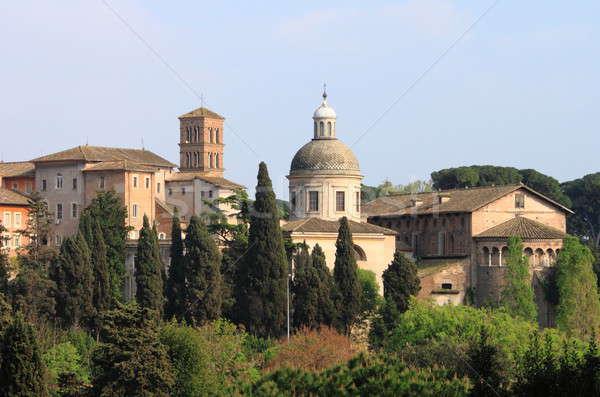 Urbana scenico Roma cupola chiese costruzione Foto d'archivio © alessandro0770