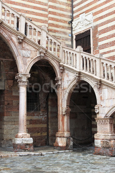 Staircase of reason in Verona Stock photo © alessandro0770