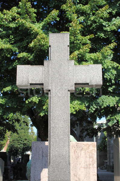Cross gravestone Stock photo © alessandro0770