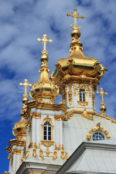 Golden domes at Peterhof Palace Stock photo © alessandro0770