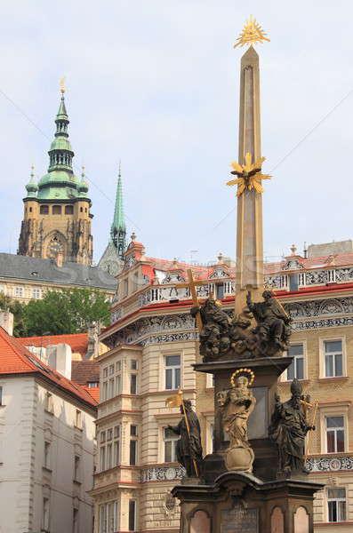 Baroque column of Holy Trinity in Prague Stock photo © alessandro0770