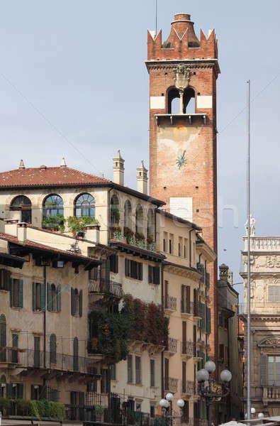 Torre praça verona Itália cidade urbano Foto stock © alessandro0770