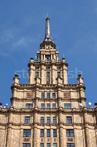 Academia Riga Látvia céu edifício azul Foto stock © alessandro0770
