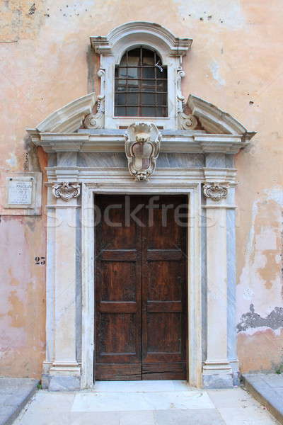 Front door of a medieval church Stock photo © alessandro0770