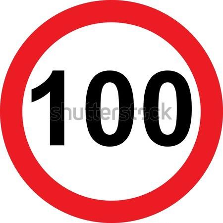 100 speed limitation road sign Stock photo © alessandro0770