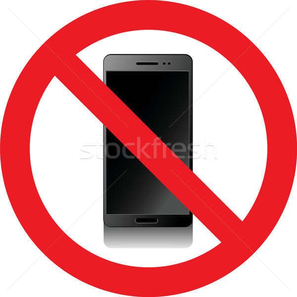 No smartphones sign Stock photo © alessandro0770