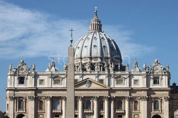 święty bazylika Watykan fasada Rzym Włochy Zdjęcia stock © alessandro0770