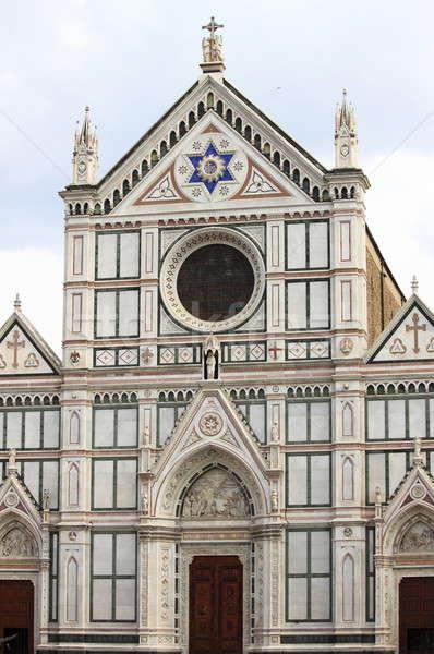 святой крест базилика Флоренция Италия двери Сток-фото © alessandro0770