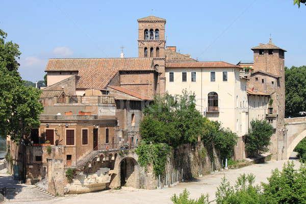 Tiberina island in Rome Stock photo © alessandro0770