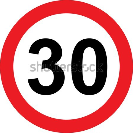 30 speed limitation road sign Stock photo © alessandro0770
