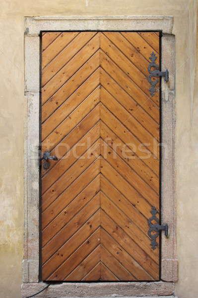 средневековых парадная дверь Прага центра Чешская республика здании Сток-фото © alessandro0770