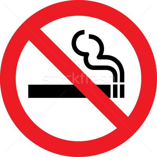 Dohányozni tilos felirat megengedett információ grafikus stop Stock fotó © alessandro0770