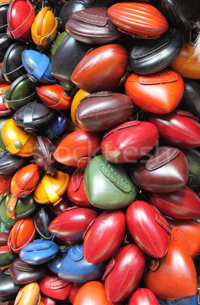 красочный кожа продажи магазине моде рынке Сток-фото © alessandro0770