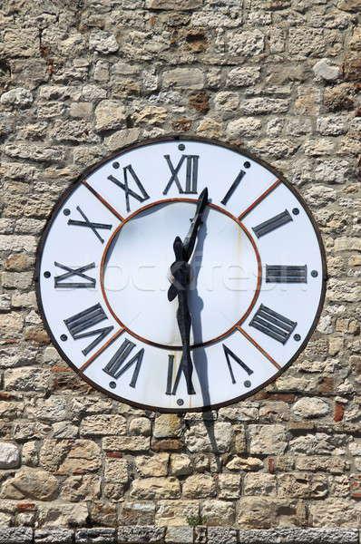 Saat kule sanat fayans stil tuğla Stok fotoğraf © alessandro0770