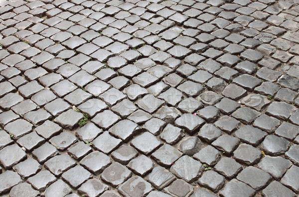 Edad romana pavimento piedra centro de la ciudad Roma Foto stock © alessandro0770