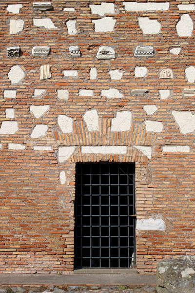 Eski Roma ev giriş Roma İtalya Stok fotoğraf © alessandro0770
