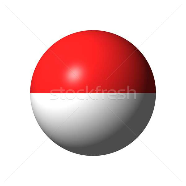 Sphere with flag of Indonesia Stock photo © alessandro0770