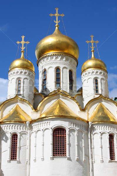 Catedral Moscú Kremlin dorado Rusia cielo Foto stock © alessandro0770