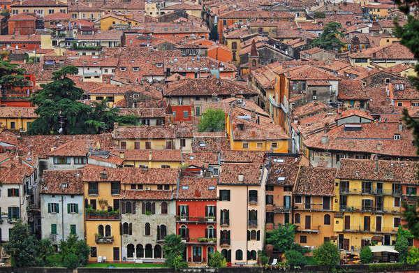Colorido casas verona Itália edifícios pedra Foto stock © alessandro0770