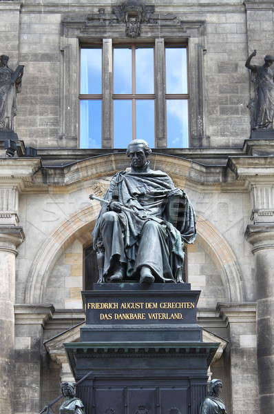 Friedrich August statue Stock photo © alessandro0770