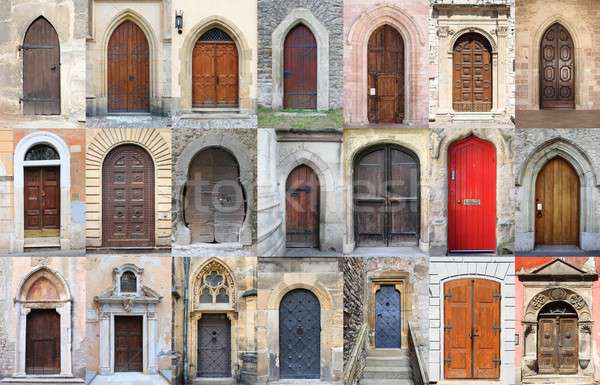 Medieval front doors Stock photo © alessandro0770